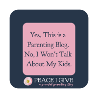 Yes, This is a Parenting Blog. No, I Won't Talk About My Kids.